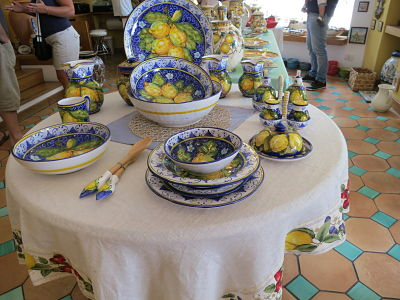 Ceramics from Positano