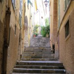 Volterra, Italy, Piazza del Priori, Stairway, Alley